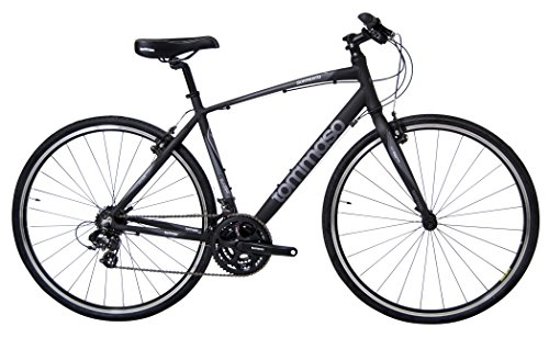 Tommaso Sorrento -Shimano Tourney Hybrid Fitness Bike - Black/Grey - Large