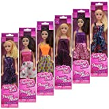 """American Fashion Dolls, 11"""". Set of 6 with different clothes. Introduce them to your Barbie collection. Great favors for Birthday Party gifts BONUS (1) MERMAID DOLL"""