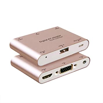 Docooler Adaptador Micro USB USB-A Reproduce Audio VGA HDMI ...