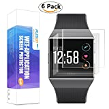 Fitbit Ionic Screen Protector, [6-Pack] PLESON [Case Friendly] [Full Coverage] [Bubble-Free][No Lifted Edges] Wet Applied HD film Clear Screen Protector for Fitbit Ionic Watch