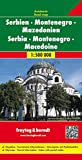 Serbia, Montenegro & Macedonia FB 1:500K (English, Spanish, French, Italian and German Edition)