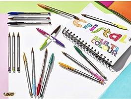 BIC Cristal Fun - Caja de 20 unidades, bolígrafos punta ancha (1,6 ...