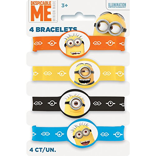 (Despicable Me Minions Silicone Wristband Party Favors,)