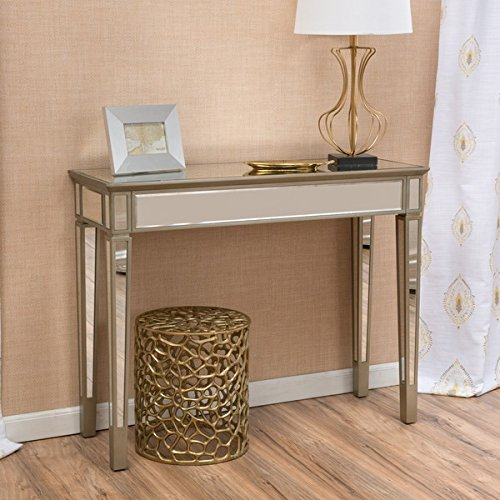 Crawford vintage mirror console table by christopher