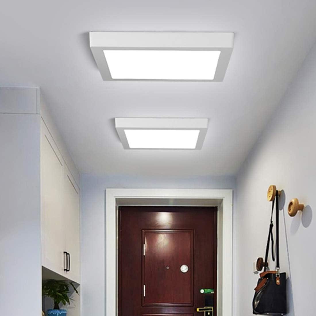 LED Panel Light 18W 1500lm Quadratisch Flat Einbauleuchte 6500K Kaltwei/ß Licht Innenbeleuchtung f/ür B/üro Wohnzimmer Schlafzimmer Badezimmer B/üro Flur Flureinbauleuchte Energieklasse A+