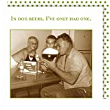 Shannon Martin Design 20-Count 3-Ply Paper Beverage Napkins, Dog Beers