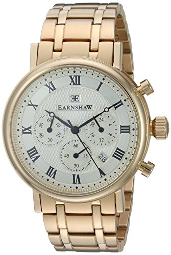 Thomas Earnshaw Men's 'BEAUFORT' Quartz Stainless Steel Casual Watch, Color Gold-Toned (Model: ES-8051-22)