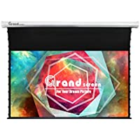 Grand Screens Tab-Tension,100-inch 16:9, 4K Tensioned Electric Motorized Projection Projector screen,6JGZP100H