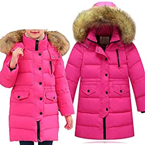 8a2794de118b2 Big Girls  Winter Parka Down Coat Puffer Jacket Padded Overcoat with ...