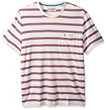 Original Penguin Men's Short Sleeve Sock Stripe Tee, Bright White, Medium