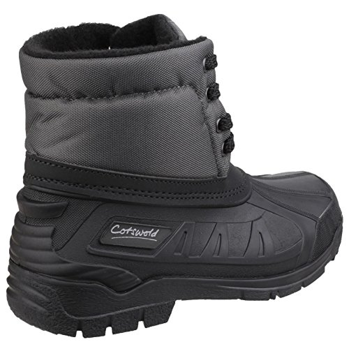 Cotswold Womens/Ladies Leoni Lace Up Rubber Upper Canadian Snow Boots Grey