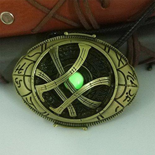 Doctor Strange Necklace  Glow In The Dark Necklace  Eye Of Agamotto Amulet Necklace  Doctor Strange Fans Gift  Doctor Strange Costume