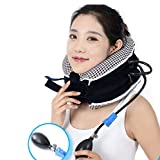 Cervical Neck Traction Device - Neck Pain Relief Therapy - Cervical Collar Adjustable - Neck Back Shoulder Support - Herniated Disc Neck Relief
