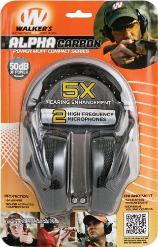 Graphite Gray Series - Walker's Alpha Electronic Muff, Carbon Graphite