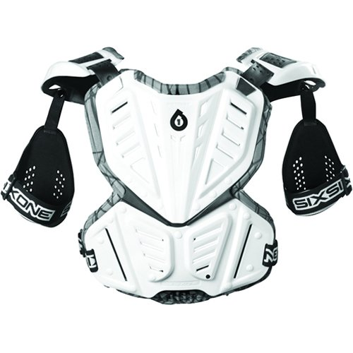 SixSix One Unisex Prodigy Wired Roost Deflector Motorcycle Body Armor - White / Large