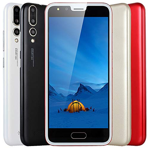 Price comparison product image Liu Nian 5.0''Ultrathin Cell Phone Dual HD Camera Android 4.4 512MB RAM UP to 32GB Smartphone 3G Unlocked Mobile Phone Smartphone (Red)