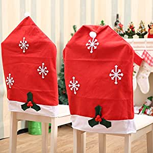 AstiVita Christmas Chair Cover Santa Hat (4-Piece Set)