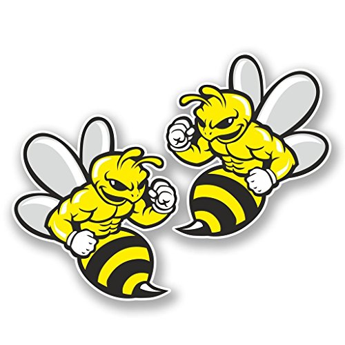 2-x-30cm-300mm-wasp-bee-hornet-vinyl-sticker-decal-laptop-travel-luggage-car-ipad-sign-fun-5845