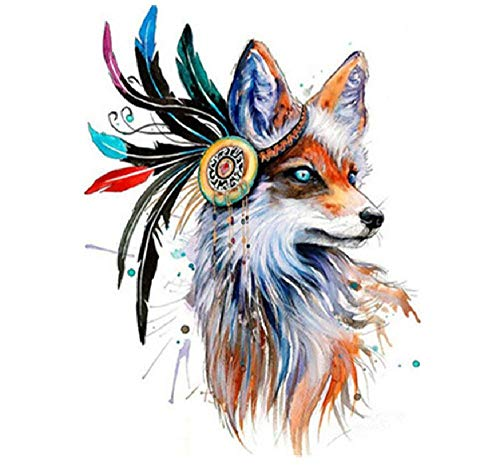 Jigsaw Puzzle 1000 Piece Adult Game Wooden Puzzle 3D DIY Indian Costume Fox Collectibles Art Scenery Animals Home Decorations Children Old People Couples