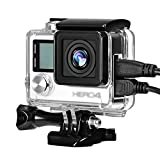 Taisioner Side Open Design Housing Case Protective Skeleton Frame for GoPro Hero4 3 3+ Action Camera