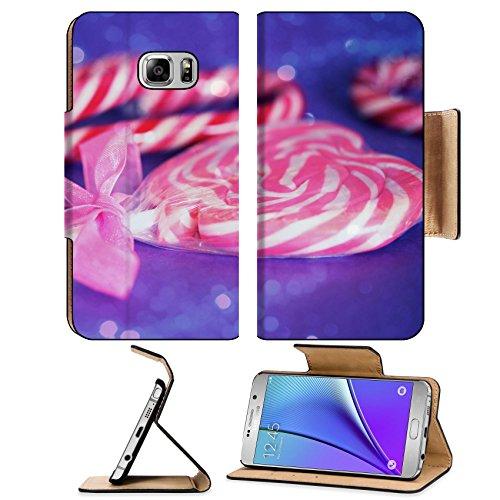 Liili Premium Samsung Galaxy Note 5 Flip Pu Leather Wallet Case Note5 (Sugar Cane Mirror)