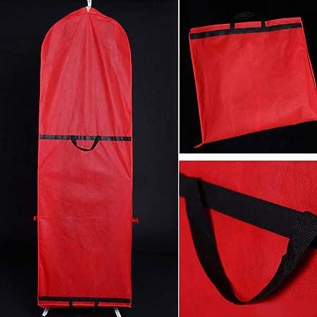 BINGHONG3 150x60cm Non-Woven Fabric Wedding Dress Dust Cover Zipper Closure Bride Gown Storage Bag Foldable Garment Clothes Case Protector,1Pc Random Color
