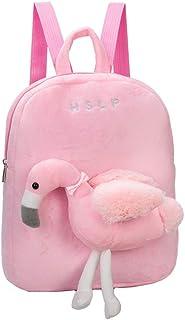 TENDYCOCO Sac à Dos Flamingo en Peluche avec Peluches pour bébés Sac préscolaire Bébé Enfants