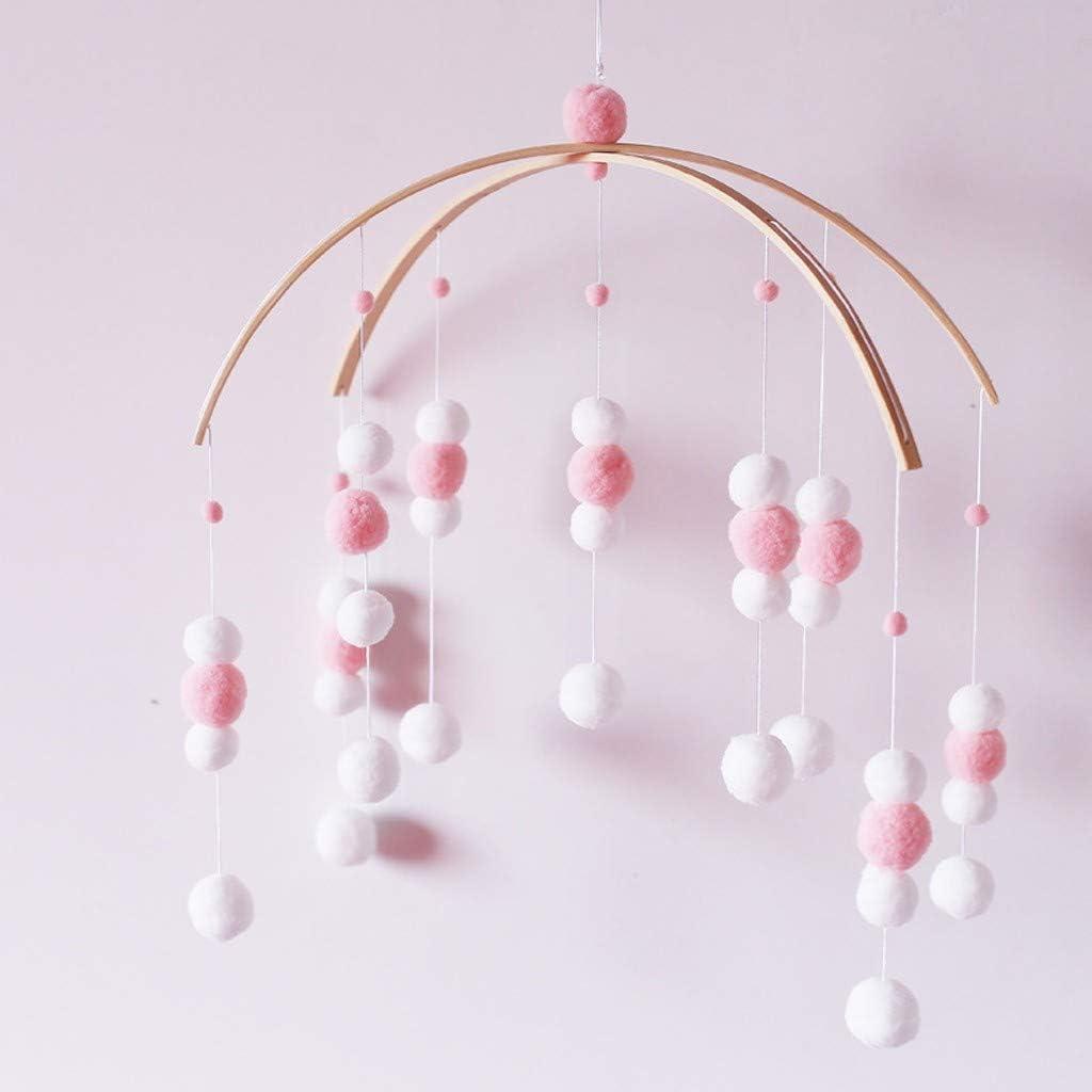 JOIMINGD Plafond Mobile en Bois pour Lit De B/éb/é Mobile pour Chambre Et Gar/çon-Violet