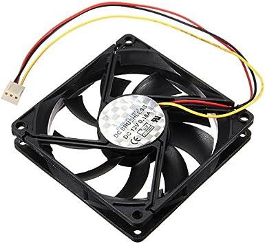 3 Pines 80mm 15mm PC CPU Ventilador Ventilador disipador de ...