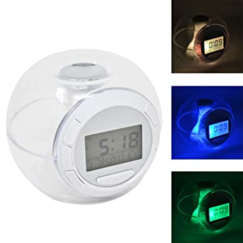 Bakaji Home Reloj Digital Luz LED Cambio Color estación ...