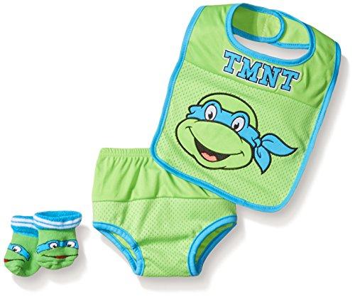 Teenage Mutant Ninja Turtles Baby Bib and Bootie Set Plus...