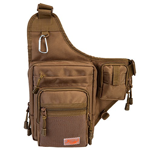 Fishing Backpack Soft Sports Shoulder Bag - Great as Crossbody Messenger bag and Sling Bags