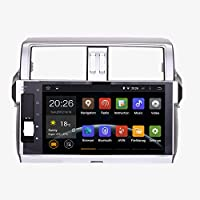 SYGAV Android 5.1.1 Lollipop Car Stereo Video Player GPS Navi for Toyota new Prado 150 2014 2015 Quad Core 10.2 Inch 1024x600 In-dash with Wifi Bluetooth Radio