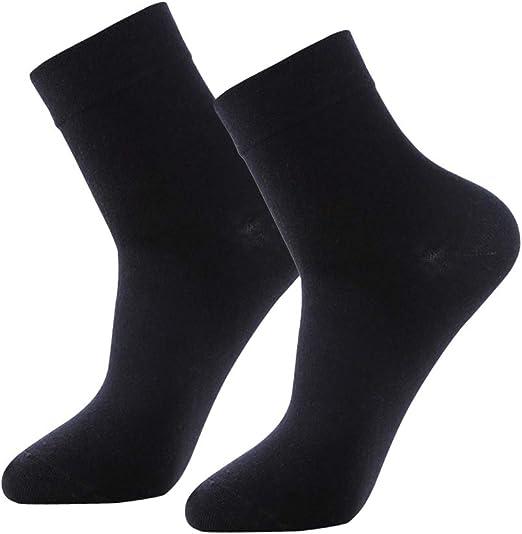 SUPVOX Calcetines de algodón para Hombre Calcetines de Tubo Medio Transpirables Suaves Trabajo de Negocios Viaje Diario Calcetines de Tobillo Negros: Amazon.es: Hogar
