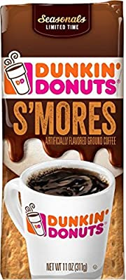 Dunkin Donuts S'mores Ground Coffee, 11 Oz, (Pack of 3)