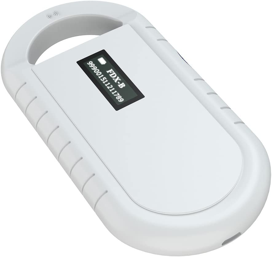 Pet Microchip Scanner, Handheld Animal Chip Reader Portable RFID Reader Supports for ISO 11784/11785, FDX-B and ID64 RFID