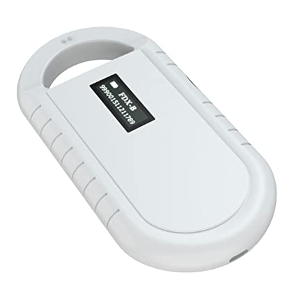 Pet Microchip Scanner, Universal Handheld Animal Chip Reader Portable RFID  Reader Supports for ISO 11784/11785, FDX-B and ID64 RFID