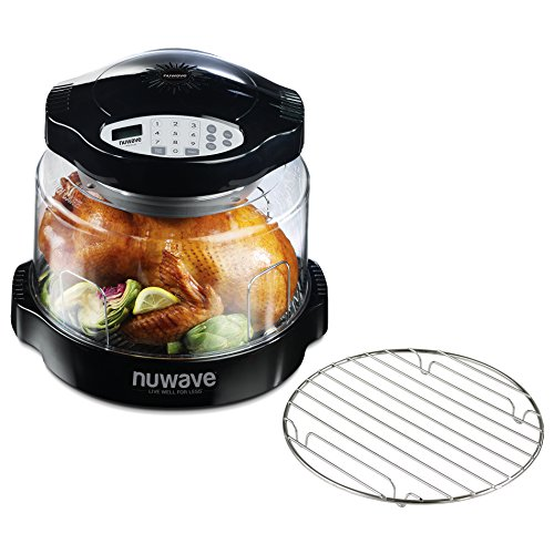 NuWave Oven Pro Plus with Black Digital Panel and Additional 9.25 Inch Cooling Rack