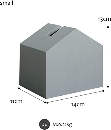 WY-BBRoo Caja de pañuelos Gris en Blanco y Negro Forma de pequeña casa Toalla de Papel Bombeo Estilo Fresco Decoración de Escritorio Decoración de Madera,Gray,S: Amazon.es: Hogar