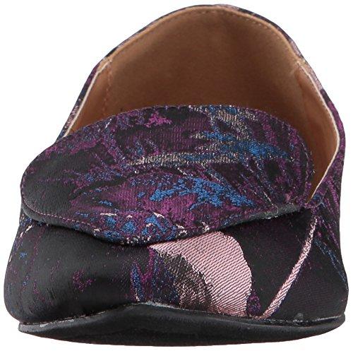 Qupid Kvinna Virvel-70 Slip-on Loafer Lila / Rouge Tyg