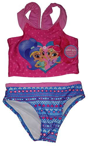 - Toddler Girls Shimmer & Shine 2 Piece Swimsuit - 2T