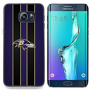 - Baltimore Raven Football - - Cubierta del caso de impacto con el patr??n Art Designs FOR Samsung Galaxy S6 Edge Plus Queen Pattern