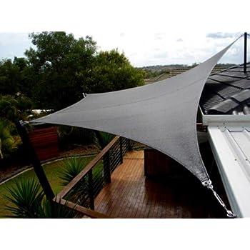 Amazon Com San Diego Shade Sail 24 X20 Rectangle Grey
