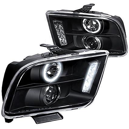Amazon Com Spec D Tuning Lhp Mst05jm Tm Ford Mustang Halo Led Black