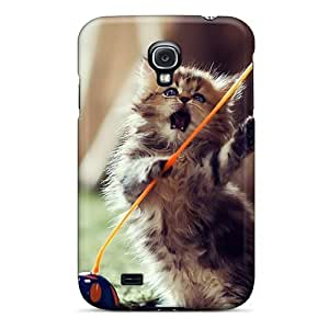 New Arrival Galaxy S4 Case Lovely Playful Kitten Case Cover