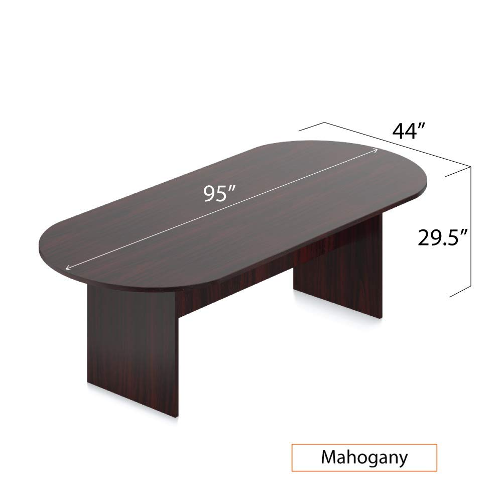 GOF 6FT, 8FT, 10FT Conference Table Chair Set, Cherry, Espresso, Mahogany, Walnut (8FT with 6 Chairs, Mahogany) by GOF (Image #3)