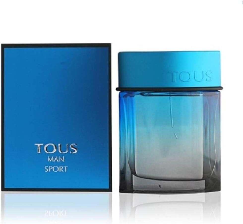 Mini perfume Tous Man Sport miniatura original Eau de toilette 4,5 ml. Detalles de boda para hombre regalos invitados bodas, obsequios comunión, recordatorios bautizo