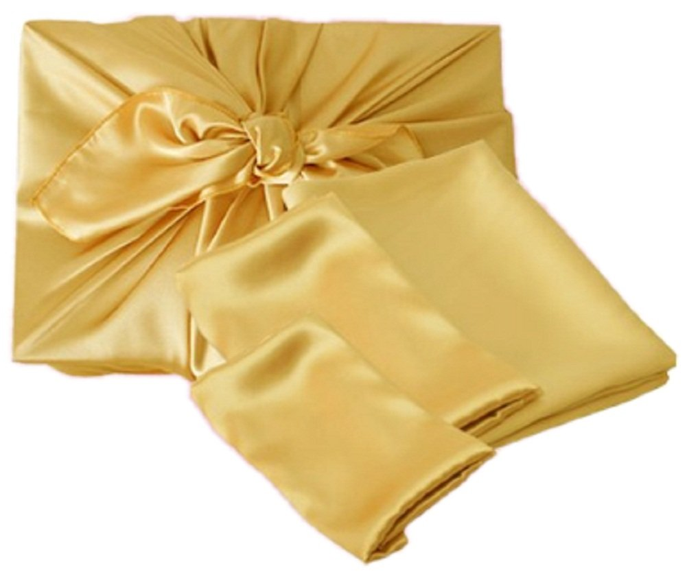 Korean Traditional Gift Wrapping Cloth BOJAGI 10 pcs (Gold Color, Large Size, 34''x34'')