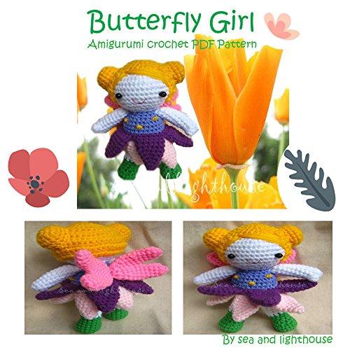 Butterfly girl Amigurumi Crochet PDF Pattern (English Edition)