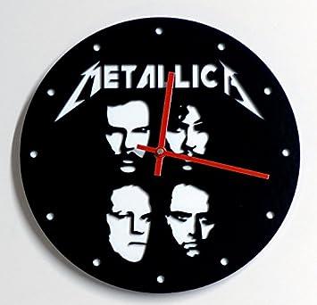 Reloj de pared original de Metallica; metacrilato, silencioso, moderno: Amazon.es: Hogar